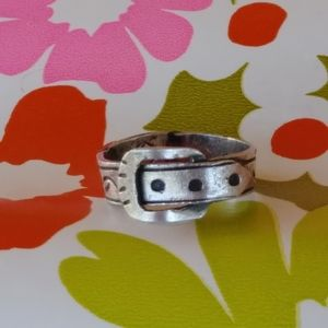 Vintage 1950s Sterling Silver Buckle Ring …